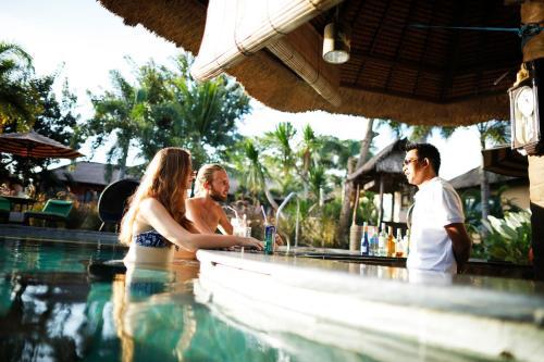 The swimming pool at or near Mara River Safari Lodge Bali
