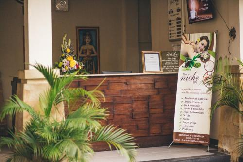 The lobby or reception area at The Niche Bali