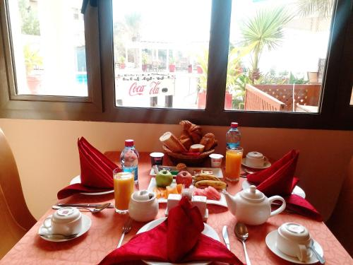 Breakfast options available to guests at Les Acacias Hotel Djibouti