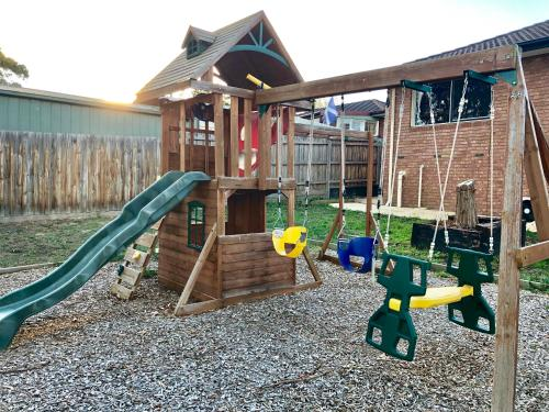 Children's play area at Mountain View House Yarra Valley (6 Beds)