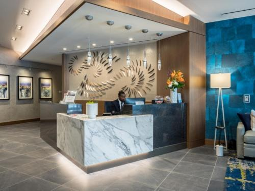 The lobby or reception area at Global Luxury Suites Bethesda Chevy Chase