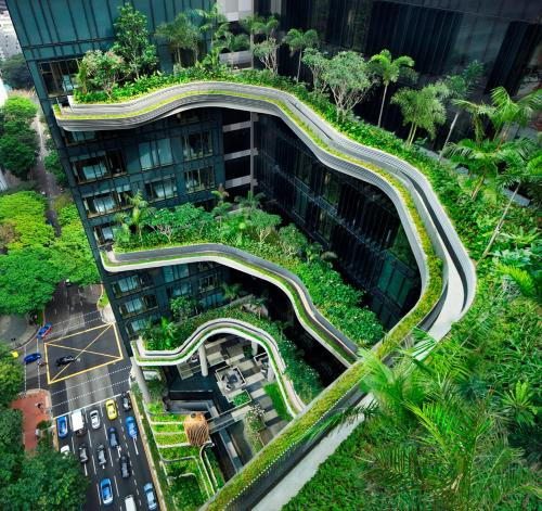 A bird's-eye view of PARKROYAL COLLECTION Pickering, Singapore (SG Clean,Staycation Approved)