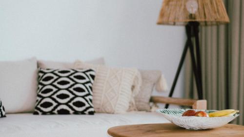 Ένα ή περισσότερα κρεβάτια σε δωμάτιο στο Elounda Palm Hotel & Suites