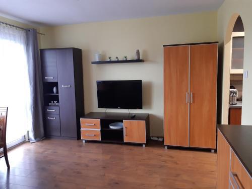 Telewizja i/lub zestaw kina domowego w obiekcie Z widokiem na góry-Zabobrze