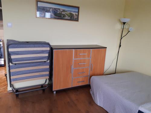 Łóżko lub łóżka w pokoju w obiekcie Z widokiem na góry-Zabobrze