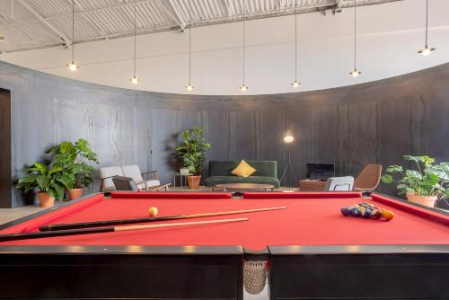 A pool table at Large Families and Groups Riverside Pavilion