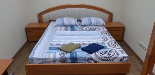Кровать или кровати в номере Antilopa Hostel