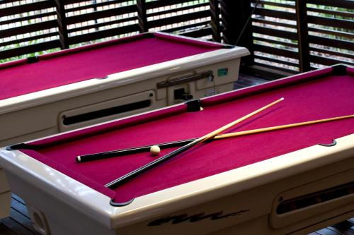 A pool table at Noosa North Shore Retreat