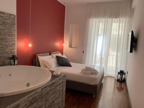 Salle de bains dans l'établissement Cellamare Suite & Spa