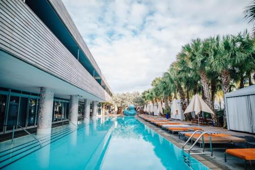 The swimming pool at or near SLS South Beach