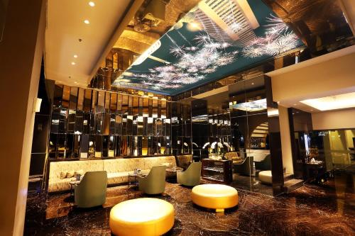 The lounge or bar area at AONE Hotel