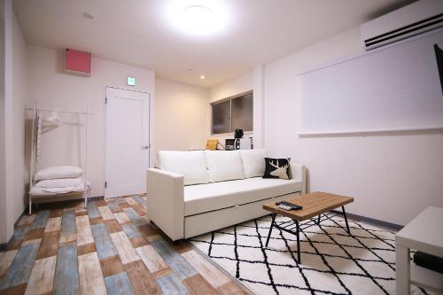 A seating area at KINO ASAKUSA HOUSE