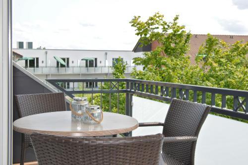 Ein Balkon oder eine Terrasse in der Unterkunft Kurhotel Drei Birken