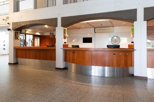 Lobbyn eller receptionsområdet på Scandic Ikaalisten Kylpylä