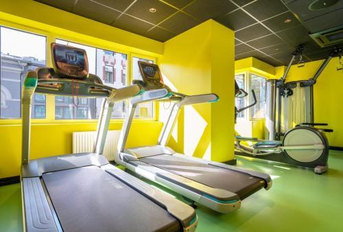 Gimnasio o instalaciones de fitness de Thon Hotel Gyldenløve