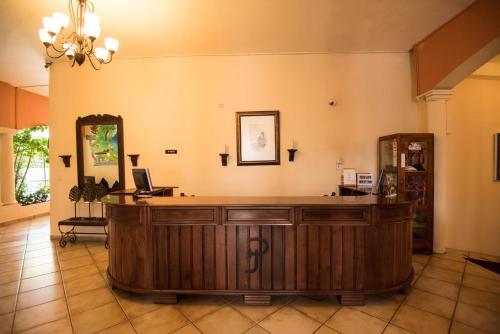 El vestíbulo o zona de recepción de Hotel Posada de Don Juan