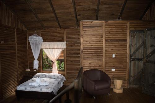 A seating area at Hotel Pedacito de Cielo