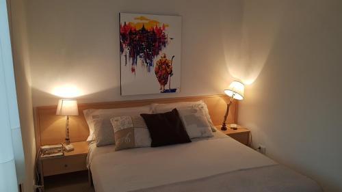 Postel nebo postele na pokoji v ubytování Villa Gardenia