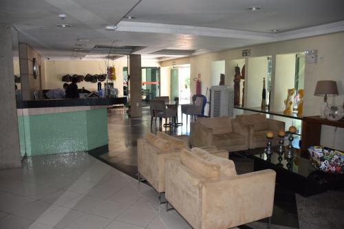 The lobby or reception area at Hotel Rio Parnaíba