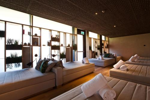 A seating area at The Hide Flims Hotel