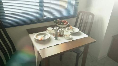 Reštaurácia alebo iné gastronomické zariadenie v ubytovaní Apartmani Matiša