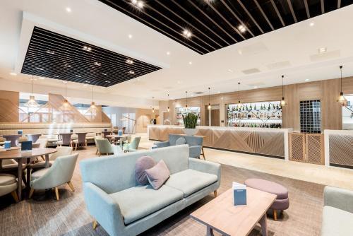 The lobby or reception area at Edgbaston Park Hotel Birmingham