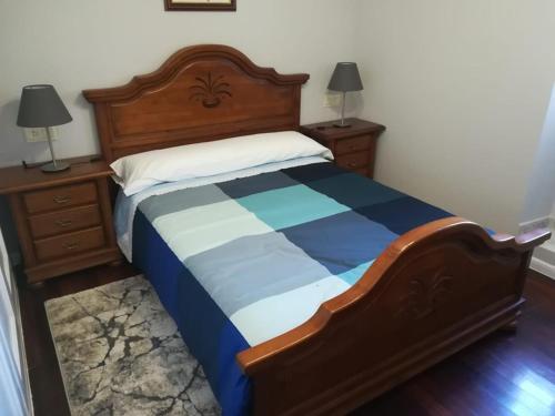 Cama o camas de una habitación en CASA DO SANTO