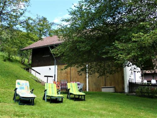 Ein Garten an der Unterkunft Untermetzgersbauernhof Alpirsbach