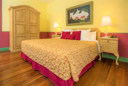 Cama o camas de una habitación en Hotel Casa Turire