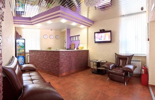 The lobby or reception area at Hotel Korona