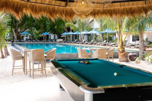 A pool table at El Nido Resorts Miniloc Island
