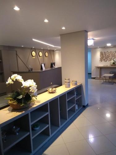 A kitchen or kitchenette at Ilhabela Park Hotel