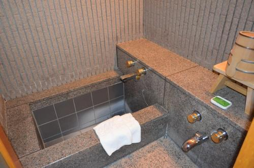 A bathroom at Kumamoto Hotel Castle