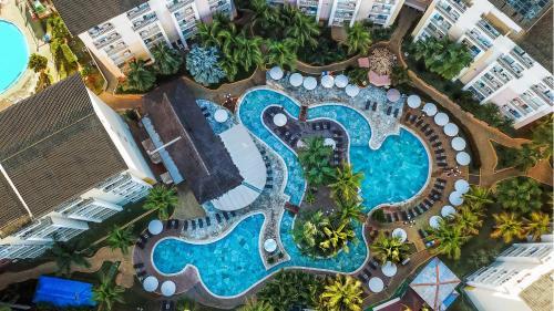 Uma vista aérea de Thermas de Olímpia Resorts by Mercure