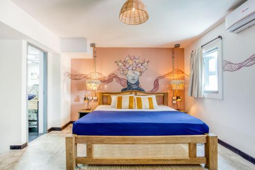 Cama o camas de una habitación en Selina Cartagena