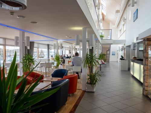 The lobby or reception area at Portavadie Loch Fyne Scotland