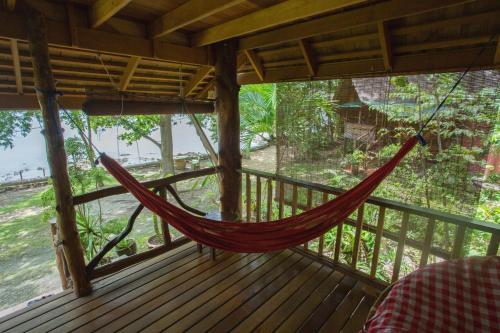 A balcony or terrace at Sabai Corner Bungalows