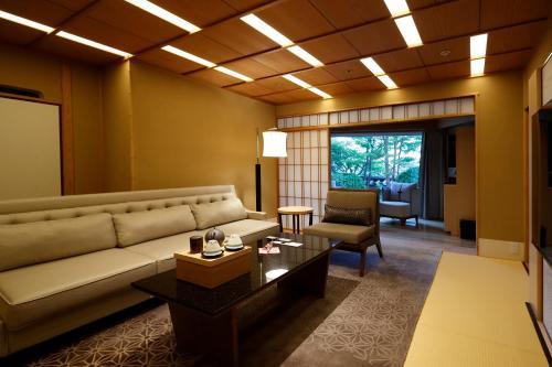 A seating area at Hotel Gajoen Tokyo