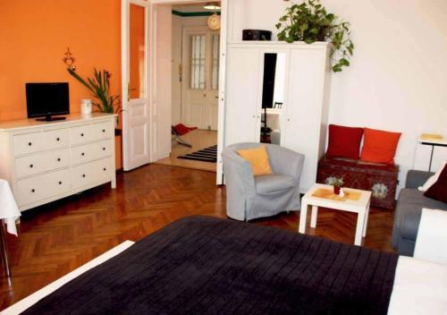 TV a/nebo společenská místnost v ubytování Cosy Appartement close to City