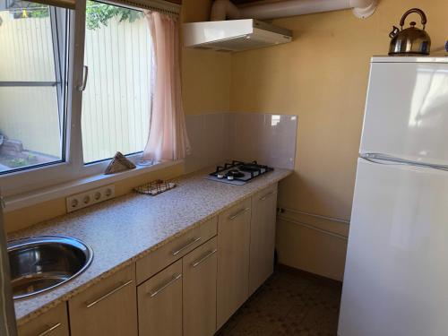 A kitchen or kitchenette at Апартаменты