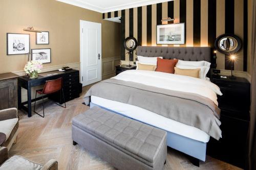 Cama o camas de una habitación en Hotel München Palace