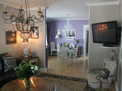 A television and/or entertainment center at Charles Street Vacation Home