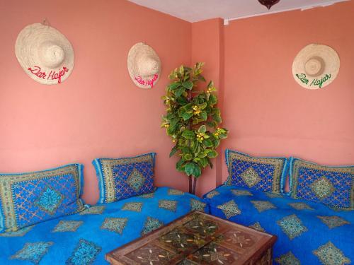 A seating area at Dar HAJAR