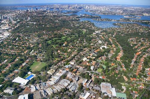 A bird's-eye view of North Sydney Holiday House