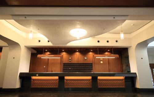 The lobby or reception area at Kurashiki Kokusai Hotel