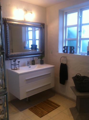 Et badeværelse på Vejle Golf Bed & Breakfast
