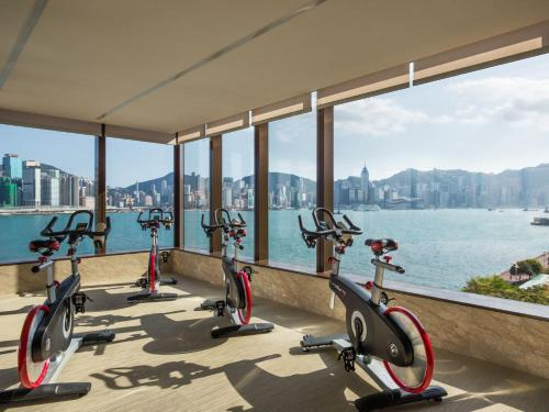 The fitness center and/or fitness facilities at Kerry Hotel, Hong Kong