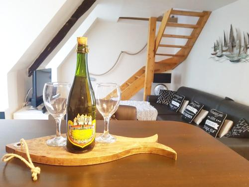 Drinks at APPARTEMENT VUE MER St MALO CUISINE ENTIEREMENT EQUIPEE 6 PERSONNES