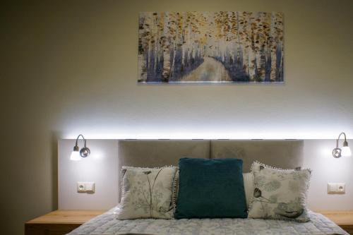 Ένα ή περισσότερα κρεβάτια σε δωμάτιο στο Sandika apartments