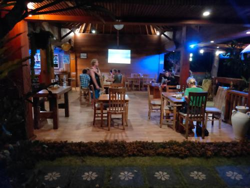 A restaurant or other place to eat at Medewi Beach Inn
